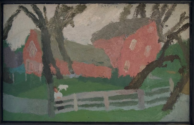 Brian Rego - Pink house on a hollow